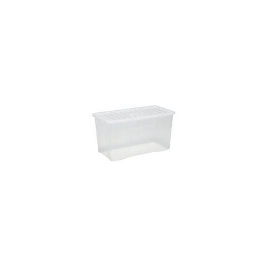 110L box with lid clear