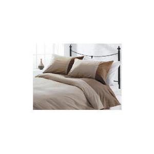 Photo of Tesco Herringbone Print Duvet Set Kingsize, Dark Natural Bed Linen