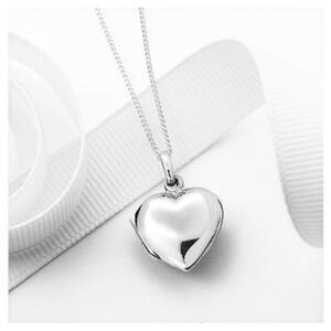 Photo of Silver Heart Locket Pendant Jewellery Woman