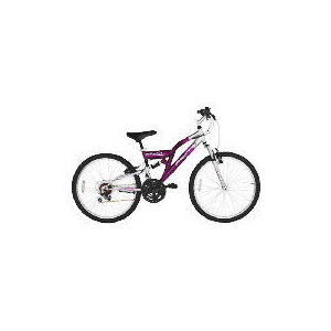 "Photo of Flite Vortex Girls 24"" Dual Suspension Bike Bicycle"