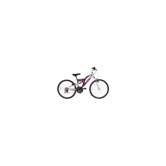 "Flite Vortex Girls 24"" Dual Suspension Bike"