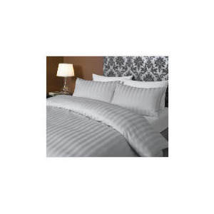 Photo of Hotel 5* Stripe Duvet Set Double, Grey Bed Linen