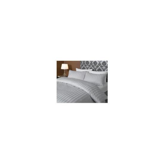 Hotel 5* Stripe Duvet set Double, Grey