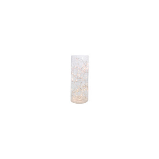 Tesco Crackle Glass Vase Lamp Small