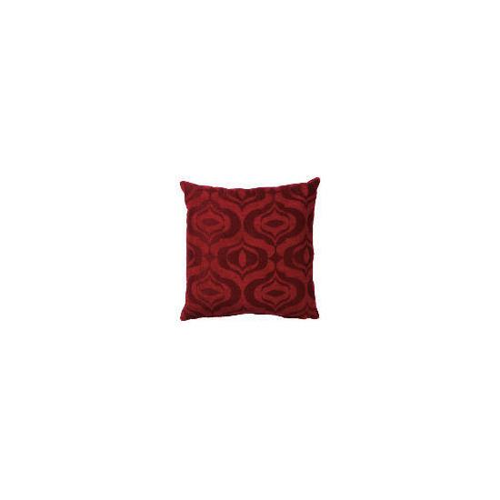 Tesco Ogee Jacquard Cushion Red, Ryley