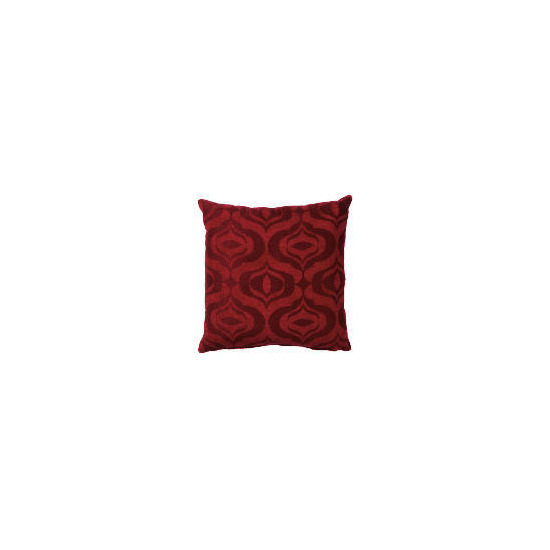 Tesco Ogee Jacquard Cushion Red, Ryley