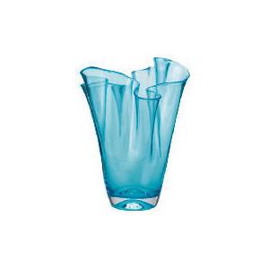 Photo of Tesco Coloured Pleated Top Vase Aqua Home Miscellaneou