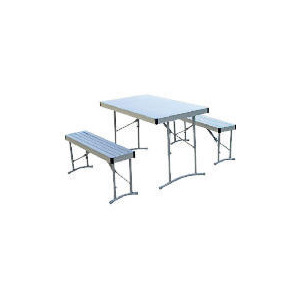 Photo of Aluminium Table With 2 Benches Camping and Travel