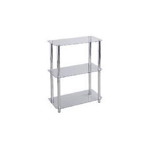 Photo of Mercury 3 Shelf Storage, Clear Glass Furniture