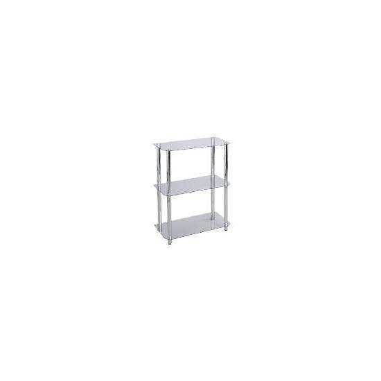 Mercury 3 shelf Storage, Clear Glass