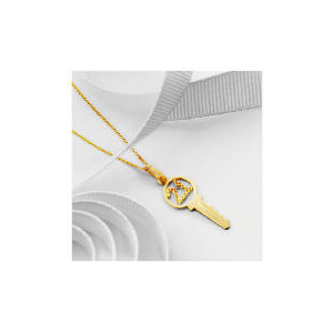 Photo of 9CT Gold '21' Key Pendant Jewellery Woman