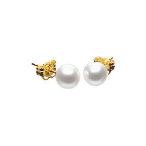 Photo of 9CT Gold Pearl Earrings Jewellery Woman