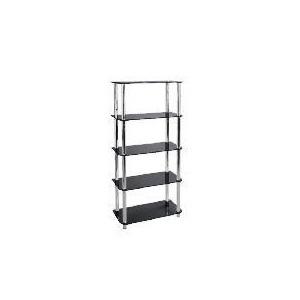 Photo of Mercury 5 Shelf Storage, Black Glass Furniture