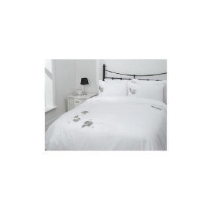 Photo of Tesco Poppy Applique Duvet Set Kingsize, White Bed Linen