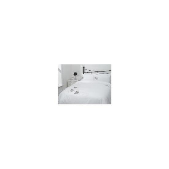 Tesco Poppy Applique Duvet Set Kingsize, White