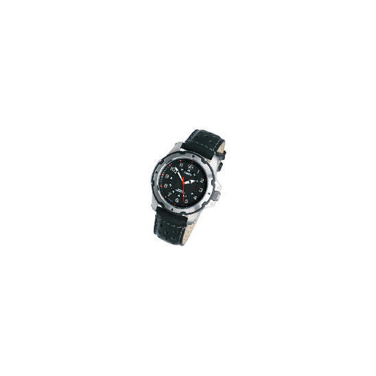 Timex Expedition Leather Strap Black Face Watch