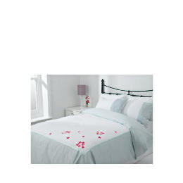 Tesco Imogen Embroidered Duvet Set Double, White Reviews