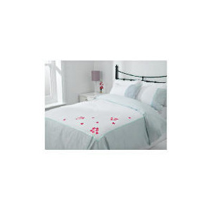 Photo of Tesco Imogen Embroidered Duvet Set Double, White Bed Linen