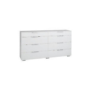 Photo of Monza 8 Drawer Chest, White Finish Furniture