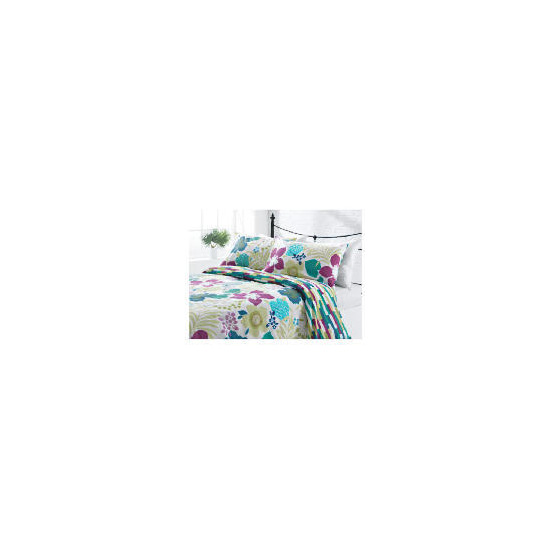 Tesco Tropical Print Duvet Set Double, Multi-coloured