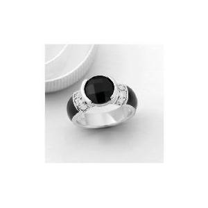 Photo of PAVE BUCKLEY JET MONROE RING - MEDIUM Jewellery Woman
