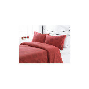 Photo of Tesco Spiral Print Duvet Set Double, Red Bed Linen