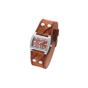 Photo of Kahuna Ladies Brown Twist Cuff Watch Watches Woman