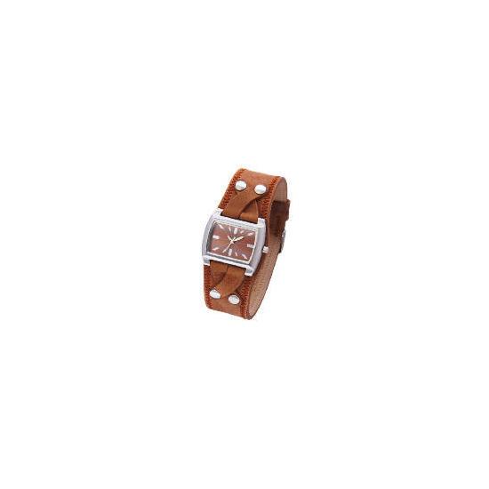 Kahuna Ladies Brown Twist Cuff Watch