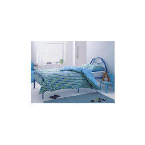 Photo of Memo Metal Bed Blue Bedding