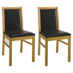 Photo of Pair Of Hanoi Chairs, Oak Effect Furniture