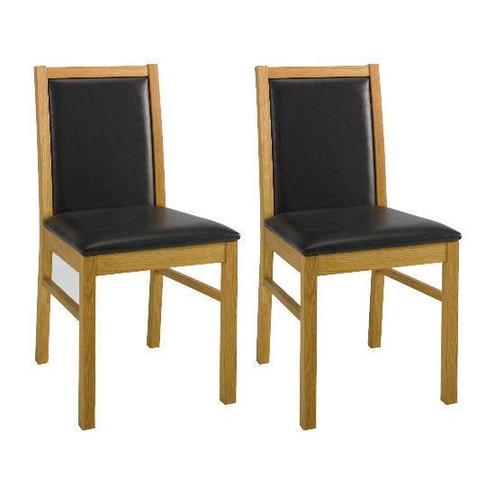 Pair of Hanoi Chairs, oak effect