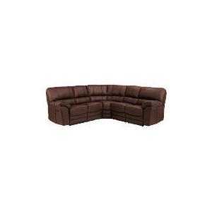 Photo of Madrid Leather Corner Unit, Black Furniture