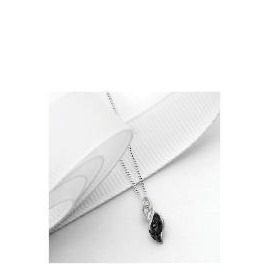 9ct White Gold 10 point Black and White Diamond Twist Pendant Reviews
