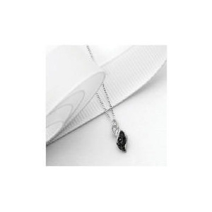 Photo of 9CT White Gold 10 Point Black and White Diamond Twist Pendant Jewellery Woman