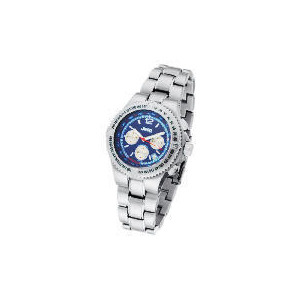 Photo of Jeep Mens Blue Face Chronograph Silver Bracelet Watch Watches Man