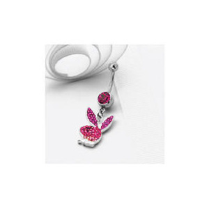 Photo of Playboy Graduated Pink Crystal Belly Bar Jewellery Woman