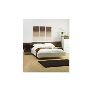 Photo of Mugello Double Bed Frame With Pine Slats, White Finish Bedding