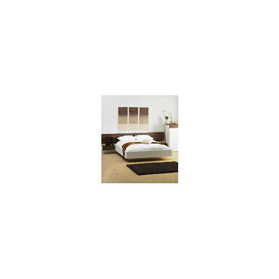 Mugello Double Bed Frame With Pine Slats, White Finish