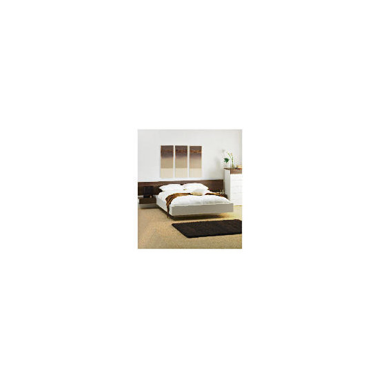 Mugello Double Bed Frame With Pine Slats, White Finish