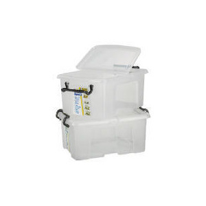 Photo of 40L Smart Boxes, 2 Pack Clear Household Storage