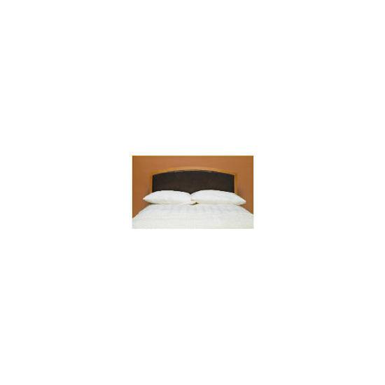 Clichy Double Headboard, Oak & Dark Brown Faux Leather