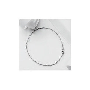 Photo of Silver Singapore Chain Anklet Jewellery Woman