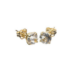 Photo of 9CT Gold Clear Topaz Earrings Jewellery Woman