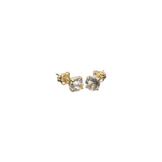 9ct Gold Clear Topaz Earrings