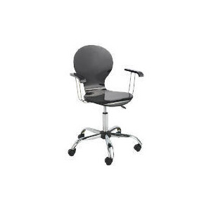 Photo of Viva High Gloss Home Office Chair, Black Office Furniture