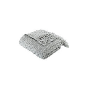 Photo of Tesco Knitted Boucle Throw - Dove Grey Cushions and Throw