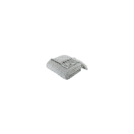 Tesco Knitted Boucle Throw - Dove Grey