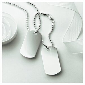 Photo of Silver Double Dog Tag Jewellery Woman