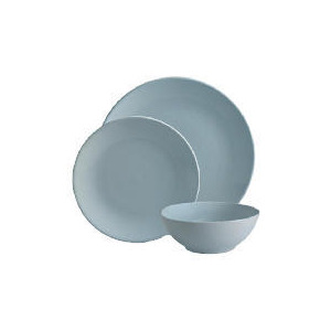 Photo of Tesco Mono Dinnerware Set 12 Piece, Blue Dinnerware