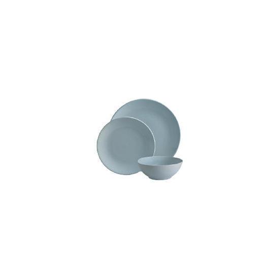 Tesco Mono Dinnerware Set 12 piece, Blue